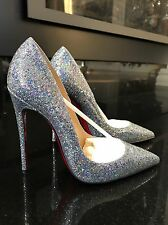 NIB Christian Louboutin So Kate Disco Ball Silver Stiletto Pump  $695 Sz 38