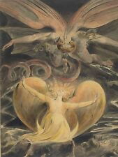 WILLIAM BLAKE BRITISH GREAT RED DRAGON WOMAN CLOTHED SUN ARTWORK PRINT BB6513A