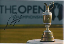 Ryo ISHIKAWA (Japan) SIGNED Autograph 12x8 Open Claret Jug Photo AFTAL COA Golf