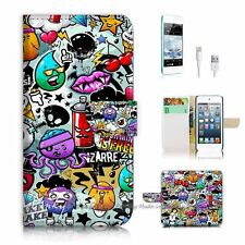 iPod Touch 6 iTouch 6 Flip Wallet Case Cover! P0880 Cartoon