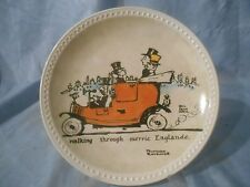NEW 1982 NEWELL Pottery Rockwell On Tour WALKING MERRIE ENGLANDE Collector PLATE