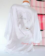 NWD VICTORIA'S SECRET I Do Bling Heart Bride Kimono Robe One Size White No Belt