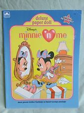 New Uncut Disney's Minnie Mouse n Me Paper Dolls Book Publisher Golden Book 1990