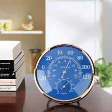 Large Round Thermometer Hygrometer Temperature Humidity Monitor Meter Gauge FE
