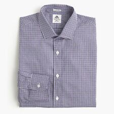 UNOPENED Thomas Mason® for J.Crew Ludlow Shirt in Grape Tattersall | S | $148