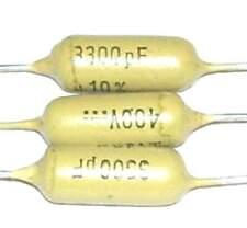 3 Condensateurs MULLARD MUSTARD C296 NEUFS 3.3nF - 400V - 0.0033uF - 3300pF