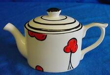 EMMA BAILEY ART DECO CHERRY TREE MINI TEAPOT - ENGLISH STAFFORDSHIRE BONE CHINA