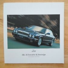 Jaguar xj série orig uk 1997 marketing grand format brochure XJ6 executive souverain