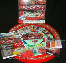 Mint Condition - CARS 2 - Disney-Pixar MONOPOLY Board GAME w/ Race TRACK -2011