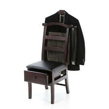 Suit Clothes Valet Dressing Chair Wardrobe Stand Catchall Garment Rack Organizer