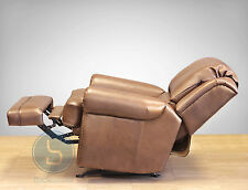 Barcalounger Regency II Genuine Leather Recliner Lounger Chair Tri-Tone Metallic