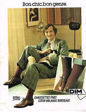 PUBLICITE ADVERTISING 104  1980  DIM  chaussettes homme coton