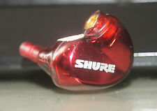 Used Original Shure SE535 Left Side In-Ear only Earphones - Red