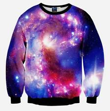 Womens Mens 3D Graphic Lion Print Hoodie Sweatshirt Galaxy Pullover Tops Jumpers
