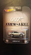 HOT WHEELS RETRO ENTERTAINMENT 007 A VIEW TO A KILL CORVETTE SAVE 5% WORLDWIDE