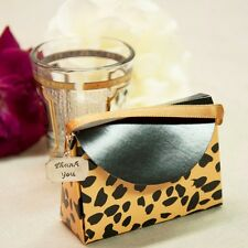 20 Leopard Animal Print Purses Boxes with Thank You Charm Birthday Wedding Gifts