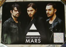 30 Seconds To Mars Love Lust Faith Dreams 2013 Taiwan Promo Poster