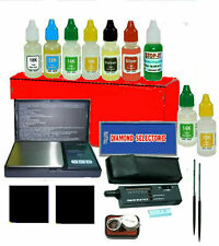 precious metals testing kit: Scale, Diamond Selector, Test Stones, Files & Acids