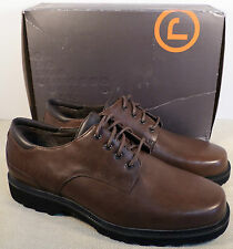 ROCKPORT APM21684 NORTHFIELD BROWN LEATHER OXFORD SHOES SIZE 10.5 XW NEW IN BOX
