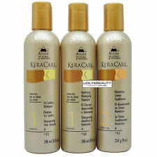 KeraCare 1st Lather & Hydrating Detangling Shampoos + Humecto 8 Oz Set w/ Gift