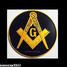 Prince Hall Black/Gold Masonic Auto Emblem FreeMasonry Car Lodge Mason Freemason