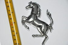 Silver Metal Ferrari Replica Horse Logo Car Truck Motorcycle Bike Badge 9.5cm