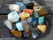 "1/2 LB BULK BRAZIL MIX  LARGE 1""+ Rough Crystals Rocks Stones 2200+ CARATS"
