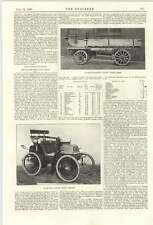 1899 Cannstadt Daimler 2 TON CARRI A MOTORE 2 posti CARROZZA perforazione radiale