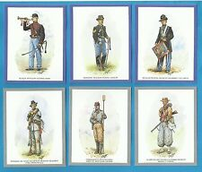 cigarette/trade cards - UNIFORMS OF THE AMERICAN CIVIL WAR - mint condition set.