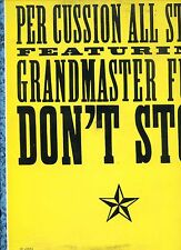PER CUSSION ALL STARS feat GRANDMASTER FUNK don't stop 12INCH 45 RPM HOLLAND EX