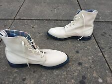 Dr Martens Evan porcelain canvas boots UK 8 EU 42  vegetarian