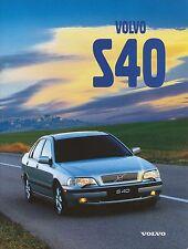 Volvo S40 S 40 Prospekt 10258/2-98 brochure 1998 Auto PKWs Schweden Autoprospekt