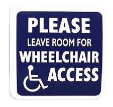 Veuillez Laisser Chambre Pour Accès Chaise Roulante Handicapé Information Signe