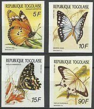 Togo Papillons Butterflies Schmetterlinge Mariposas Non Denteles Imperfs ** 1990