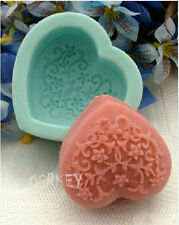 Flower Heart S045 Silicone Soap mold Craft Molds DIY Handmade soap mould