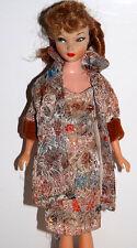 Vintage Barbie Clone Sheath Brocade Dress Coat Hat Fab Lu Ensemble Suzette Purse
