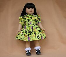 Doll Dress fitting 18 inch American Girl dolls Lime Halloween Dress Shoes Socks