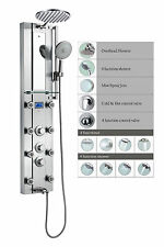 Stainless Steel Thermostatic Shower Spa Panel Tower 8 Body Jets and Tub Spout