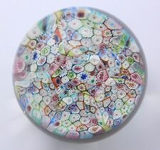 Vintage MURANO MILLEFIORI  closely packed  Paperweight  2 3/4""