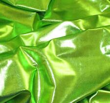 BY THE YARD  SPANDEX PVC LYCRA 4W STRETCH GORGEOUS GREEN METALLIC FOIL COLOR
