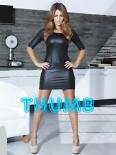 Holly Peers - 8x6 inch Photograph #056 in Wet Look PVC Rubber Mini Dress