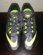 Nike Rival S Gray/Green Running Racing Sprint Track Cleats Shoes Men's Sz 13