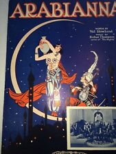 Super Art Arabianna Egyptian Sheet Music Pretty Lady Sheikh