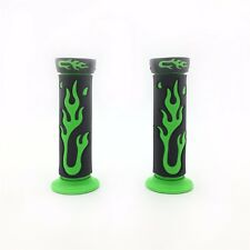 "7/8"" 22mm Flame Gel Handlebar Grips GREEN For Yamaha Honda Kawasaki Suzuki ATV K"