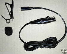 mini NEW Lavalier mike lapel clip on mic Microphone for Shure wireless bodypack
