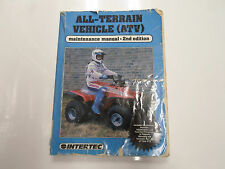 1989 Honda Kawasaki All Terrain Vehicle ATV Maintenance Manual 2nd Ed DAMAGED 89