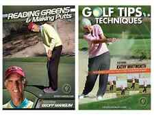 Golf Instructional DVDs - Buy 1 DVD get 1 free - Also Free Shipping!!