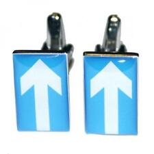 One Way Sign CUFFLINKS Good Luck Driving Instructor Test Birthday Present