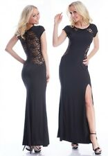 Maxi Dress Evening Dress Lace Gala Dress Party Black New Year's Eve Zipper S M