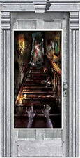 HALLOWEEN party Scene Setter HAUNTED HOUSE wall door poster decor ghosts
